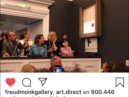 Banksy shredded after £1m auction sale